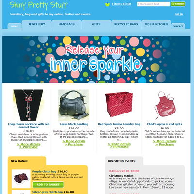 Shiny pretty stuff website