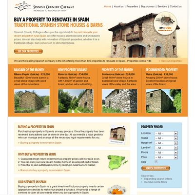 Spanish country cottages website