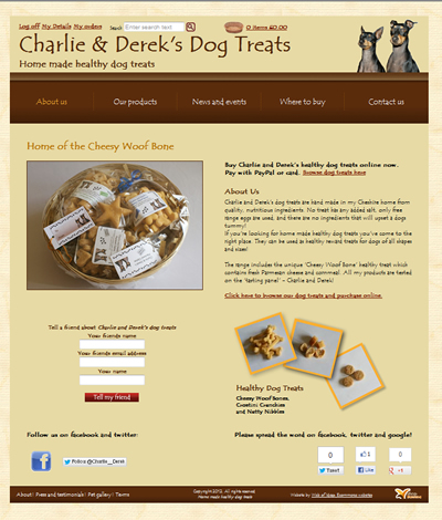 Charlie and Dereks dog treats 1